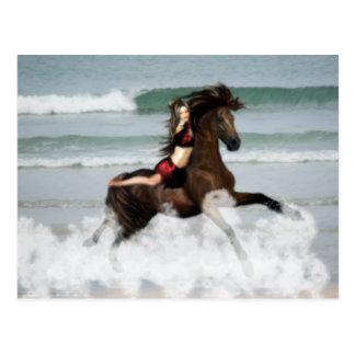 Running the Beach Postcard