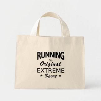 RUNNING, the original extreme sport. (blk) Mini Tote Bag