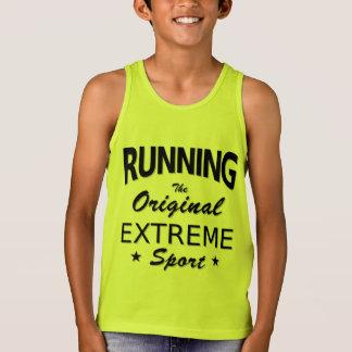 RUNNING, the original extreme sport. (blk) Tank Top