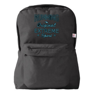 RUNNING, the original extreme sport (blue neon) Backpack