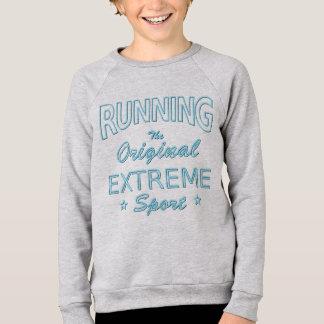 RUNNING, the original extreme sport (blue neon) Sweatshirt