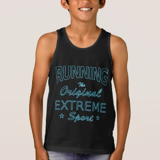 RUNNING, the original extreme sport (blue neon) Tank Top