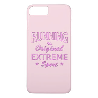 RUNNING, the original extreme sport (pink neon) iPhone 8 Plus/7 Plus Case