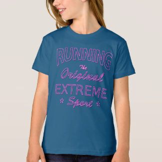 RUNNING, the original extreme sport (pink neon) T-Shirt