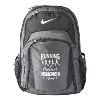 RUNNING, the original extreme sport (wht) Backpack