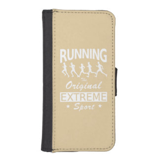 RUNNING, the original extreme sport (wht) iPhone SE/5/5s Wallet Case