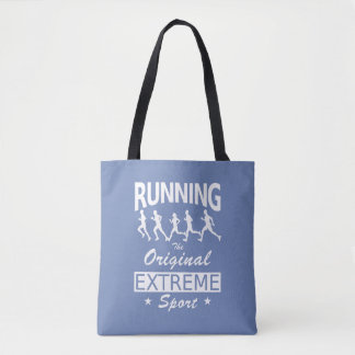RUNNING, the original extreme sport (wht) Tote Bag