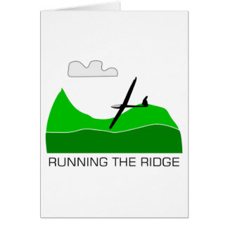Running the Ridge ... Soaring Gliding Card