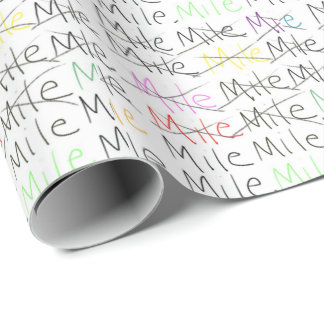 Running Theme Wrapping Paper - One Mile At A Time