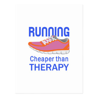 RUNNING THERAPY POSTCARD