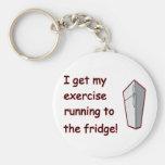 Running To The Fridge Keychain