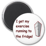 Running To The Fridge Refrigerator Magnets