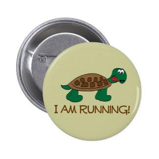 Running Tortoise 2 Inch Round Button