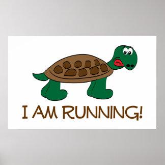 Running Tortoise Poster