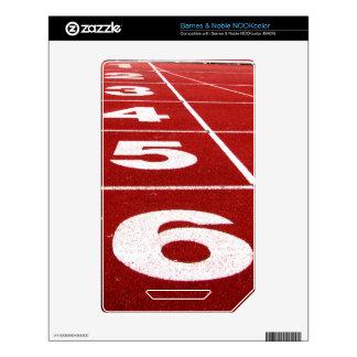 Running track Barnes & Noble NOOKcolor skin NOOK Color Skin