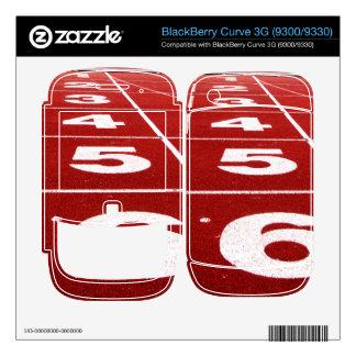 Running track BlackBerry curve 3G skin