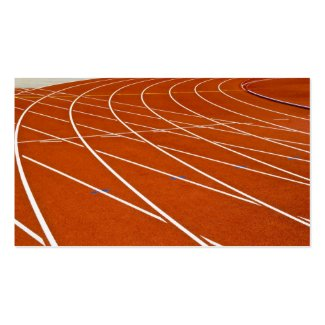 running track business card templates