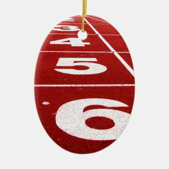 Running track ceramic ornament