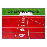 Running Track Congratulations Card