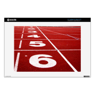 "Running track decal for 13"" laptop"