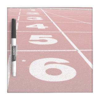 Running Track Dry Erase Board
