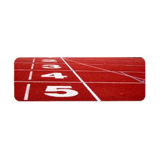 Running track label