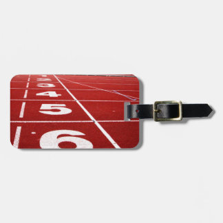 Running track luggage tag travel bag tags