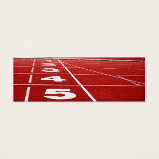 Running Track Mini Business Card