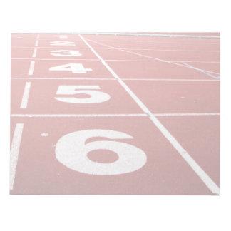 Running Track Notepad