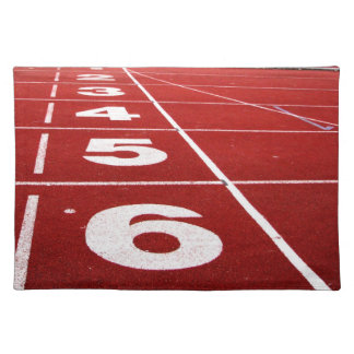 Running track placemats place mats