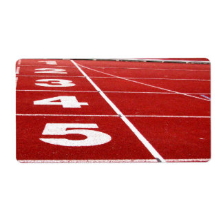 Running track shipping label