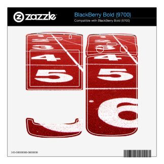 Running track decal for BlackBerry bold