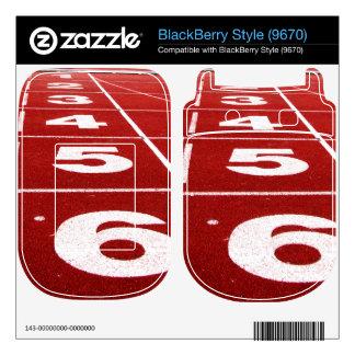 Running track BlackBerry skin