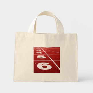 Running track tiny tote bag