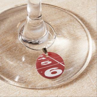 Running Track Wine Charm