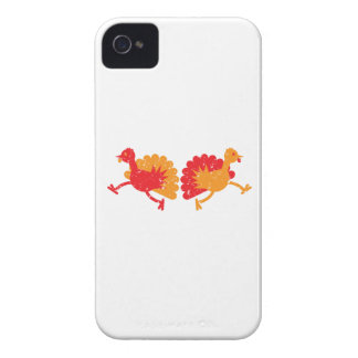 Running turkies (distressed rough version) Case-Mate iPhone 4 case