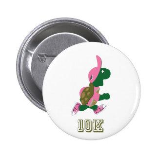 Running Turtle 10K - Pink 2 Inch Round Button