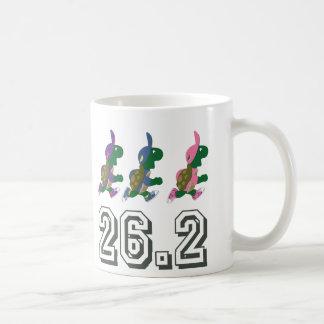 Running turtles 26.2 classic white coffee mug