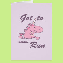Running Unicorn Card