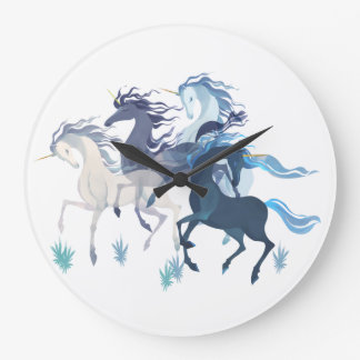 Running Unicorns clock