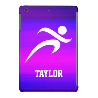 Running; Vibrant Violet Blue and Magenta iPad Mini Cover