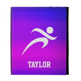 Running; Vibrant Violet Blue and Magenta iPad Case