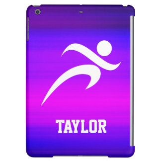 Running; Vibrant Violet Blue and Magenta iPad Air Cover