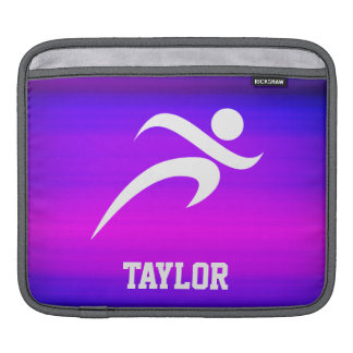 Running; Vibrant Violet Blue and Magenta Sleeves For iPads