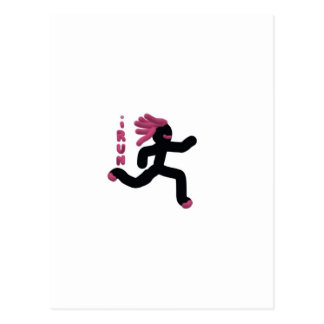Running Warrior (purple) Postcard