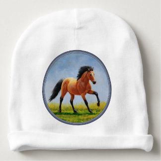 Running Wild Buckskin Horse Baby Beanie