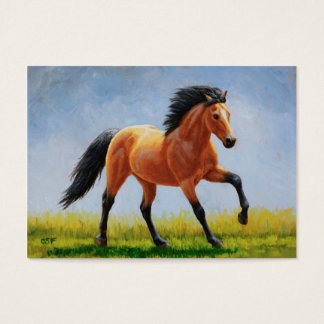 Running Wild Buckskin Horse Business Card