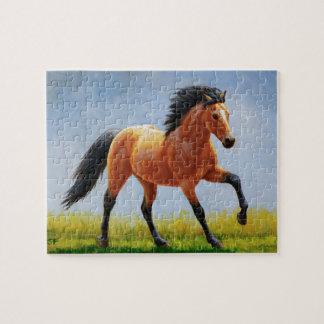 Running Wild Buckskin Horse Jigsaw Puzzle
