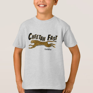 Running Wild Cheetah-Add a Name T-Shirt