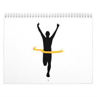 Running winner calendar